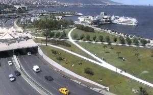 Обзорная веб камера показывает центр Измира