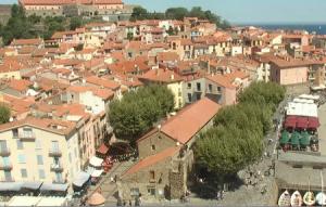 Панорама города Коллиур во Франции