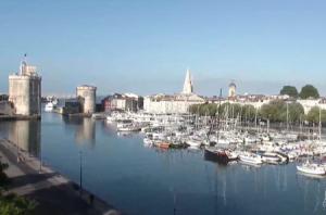 Панорама города Ла-Рошель во Франции