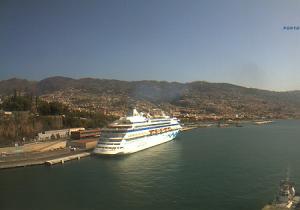 Панорама города Фуншал на острове Мадейра в Португалии