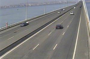 Мост Васко да Гама в Лиссабоне в Португалии