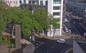 Улица Инфанте в городе Фуншал на острове Мадейра