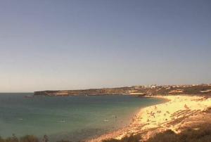 Побережье и пляж в городе Сагреш в Португалии