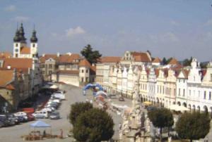 Городская площадь города Тельч в Чехии