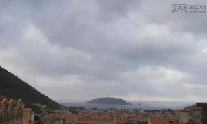 Панорама города Будва в Черногории
