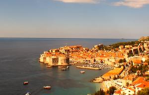 Панорама Дубровника в Хорватии