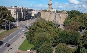 Центр города Лиепая в Латвии