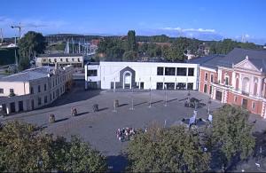 Театральная площадь в Клайпеда в Литве