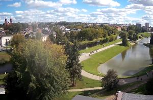 Панорама города Паневежис в Литве