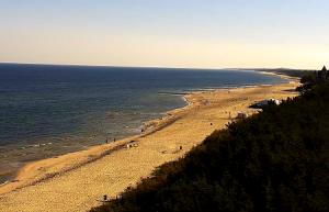 Побережье Леба в Польше, виден пляж A и B