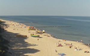 Пляж в поселке Реваль в Польше