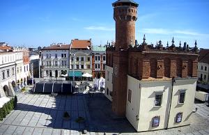 Рыночная площадь города Тарнув в Польше