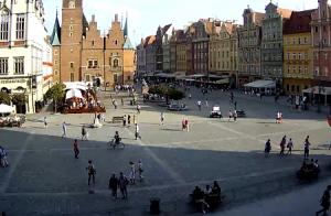 Новая Ратуша на главной площади Вроцлава в Польше