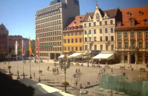 Главная площадь города Вроцлав в Польше