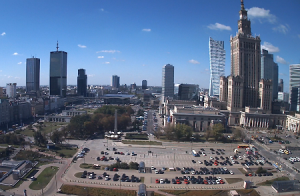 Дворец культуры и науки на площади Парадов в Варшаве