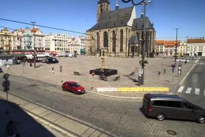 Главная площадь города Пльзень в Чехии