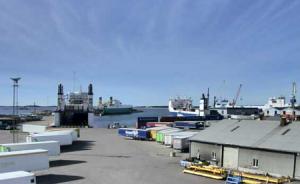 Морской порт в городе Ханко в Финляндии