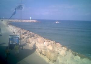 Бухта в Тель-Авиве в Израиле