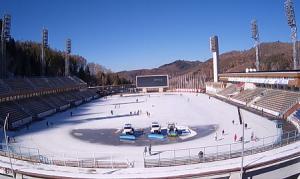 Ледовый каток Медео в Казахстане