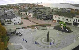 Главная площадь города Ларвик в Норвегии