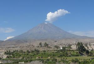 Вулкан Мисти в Перу