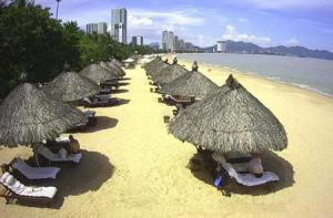 Пляж в городе Нячанг во Вьетнаме