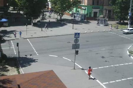 Улица Суворова в Хеpсоне на Украине
