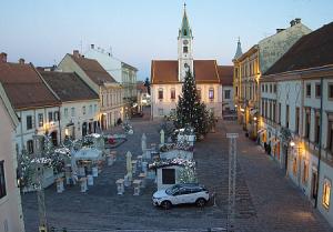 Главная Площадь города Вараждин в Хорватии