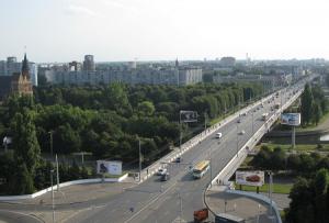 Эстакадный мост над рекой Преголи в Калининграде