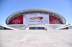 Медиафасад стадиона Казань Арена в Казане