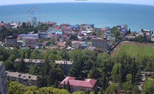 Панорама поселка Лазаревское