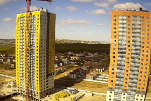 Строительство 25-этажного дома ЖК «КМ Анкудиновский Парк» в Нижнем Новгороде