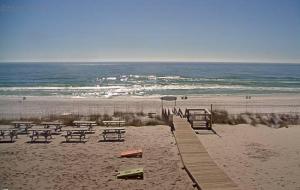 Вид на пляж и Мексиканский залив в Дестин во Флориде