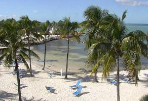 Пляж в городе Маратон во Флориде