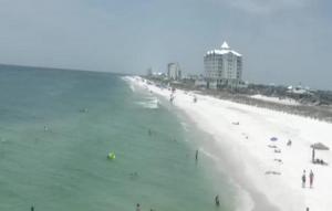 Пляж в Пенсакола в штате Флорида