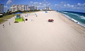 Пляж Помпано-Бич в штате Флорида