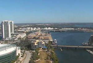 Порт города Тампа во Флориде
