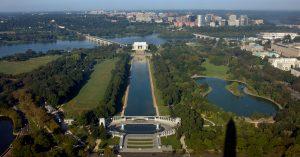 Вид с Монумента Вашингтона в США