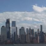 Панорама Нижнего Манхэттена в Нью-Йорке