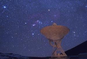 Радиотелескоп в обсерватории Мауна-Кеа на острове Гавайи