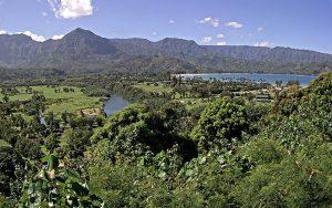Река Ханалеи на острове Кауаи на Гавайских островах