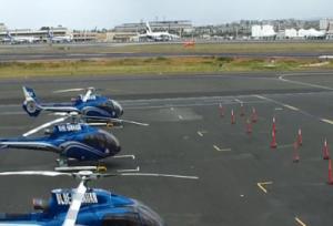 Вертолётная площадка Blue Hawaiian Helicopter на острове Оаху