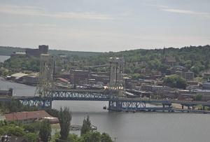 Мост Портедж канал Лифт в городе Хоутон в Мичигане