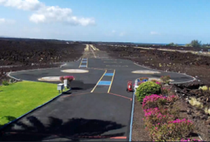 Вертолётная площадка Blue Hawaiian Helicopter на острове Гавайи