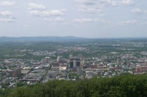 Панорама города Рединг в Пенсильвании