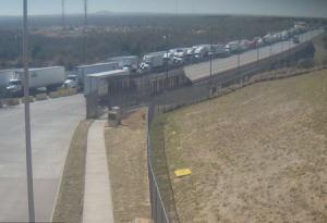 Международный мост между Мексикой и США в Ларедо в Техасе