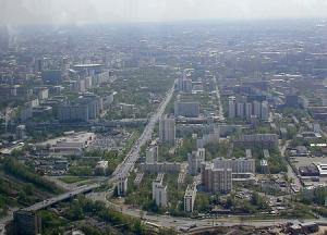 Москва со смотровой площадки Останкинской телебашни