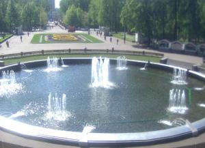 Фонтанная площадь в парке Сокольники в Москве