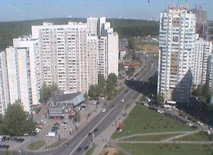 Улица Скобелевская в районе Южное Бутово в Москве