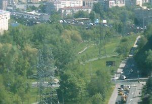 Веб камера Москвы, проспект Мира и метро ВДНХ